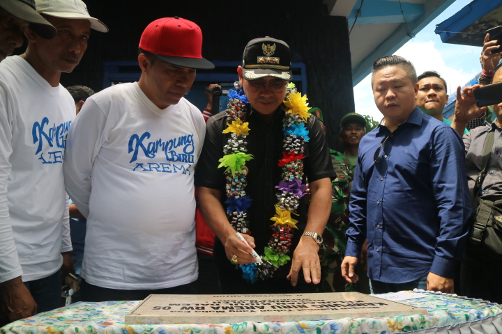 Boys, Kampung Biru Arema di Resmikan Walikota Malang